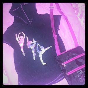 EUC ballet bundle hoodie & crossbody purse!
